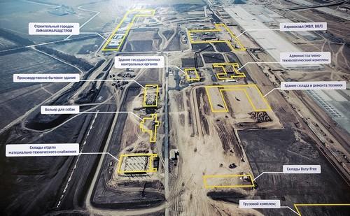 Фото стройки аэропорта Платов